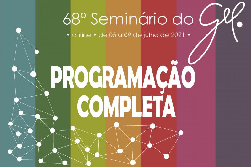 Programação completa   68º Seminário do GEL